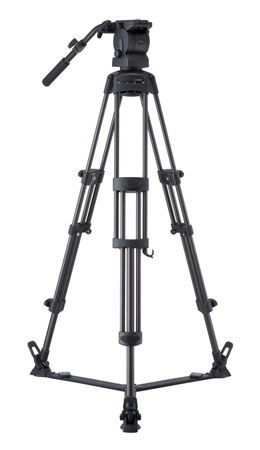 Libec RS-450R Professional 2-Stage Aluminum Tripod System w/ Floor Level Spreader