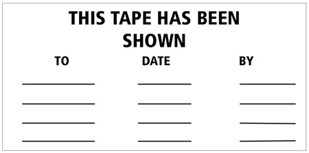 2x4 This Tape Has Been Shown Labels 100 Pack