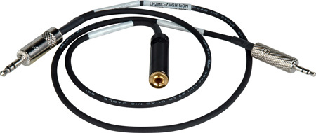 Sescom LN2MIC-ZMGH-MON 3.5 Line to 2.5 Mic for Zoom H4-PRO with Monitoring Tap