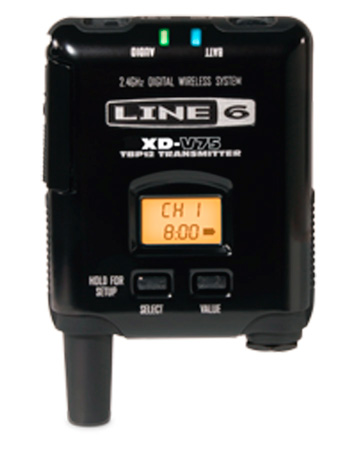 Line 6 V75-B 14-channel Transmitter Bodypack Separate