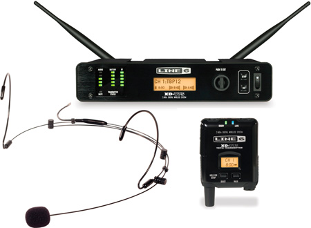 Line 6 XD-V75HS 14-CH 24GHz Bodypack & Black Headset Digital Wireless System
