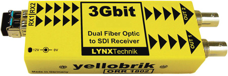 LYNX Technik Yellobrik ORR 1802 SD/HD/3G - Dual Channel Fiber to SDI Converter