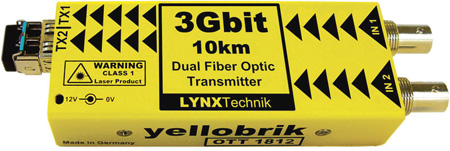 LYNX Technik Yellobrik OTT 1812 SD/HD/3G - Dual Channel SDI to Fiber Converter Transmitter
