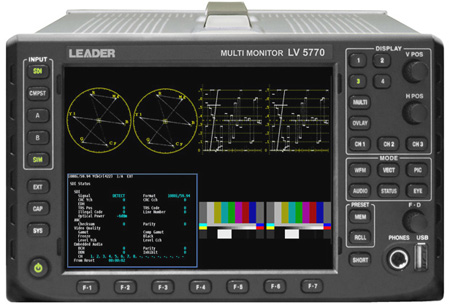 Leader LV5770 Multi-SDI Monitor