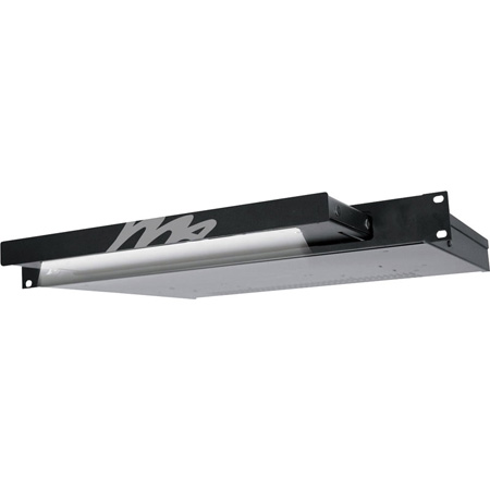 Dimmable Rackmount Light Black Brushed Anodized With Dimmable Logo