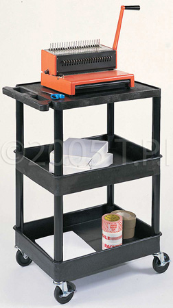 Black 18x24 Two Shelf Tub Cart