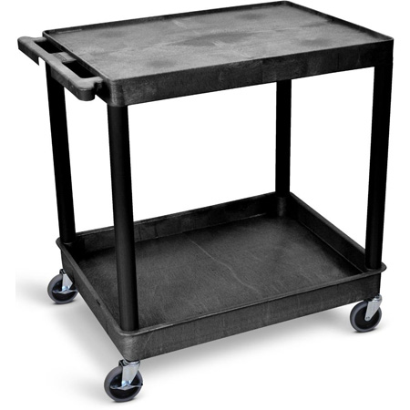 Luxor TC21 Black 32x24 Two Shelf Tub Cart