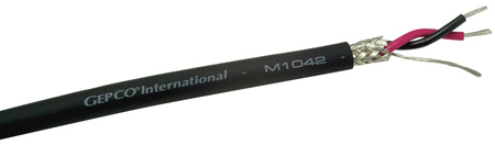 Gepco M1042 20 AWG Heavy Duty Microphone Cable with Extra-tough Jacket - 1000 FT Black