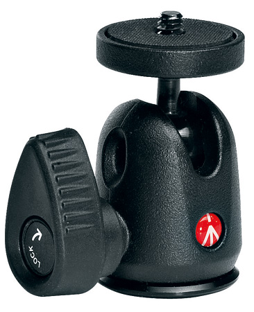 Manfrotto 492LCD Micro Ball Head with Hot Shoe Mount