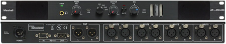 Marshall AR-AM4-BG 4 Analog Stereo Balanced XLR Inputs with 1 Passive Stereo Balanced XLR Output & Stereo BG Motors