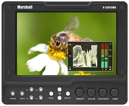 Marshall V-LCD56MD 5.6 Inch Camera Top Monitor (no modules)