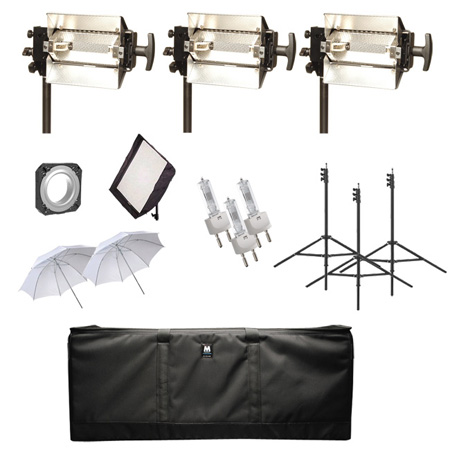 MACCAM PBK-35MB-S 3x500W Minibroad Floodlight Traveling Soft Light Kit