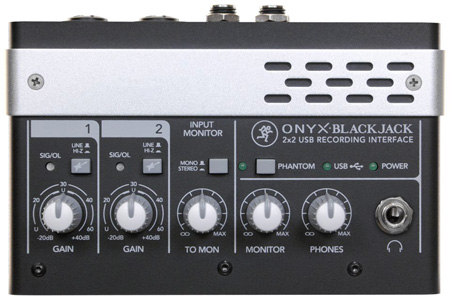 Mackie Onyx Blackjack 2x2 USB Recording Interface