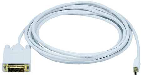 Mini DisplayPort to DVI - Male-Male - 15FT - White
