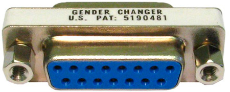 DB-15 Female to DB-15 Female D-Sub Gender Changer