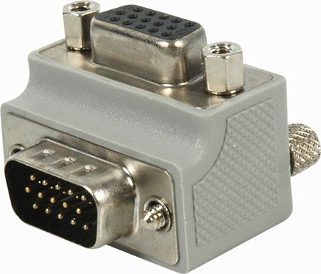 MGC-15RAX1 HD15-Pin VGA Right Angle Adapter Female Panel Mount