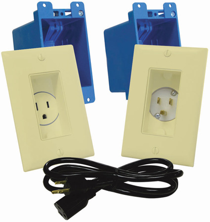 MidLite A46 In-Wall TVPower Solution Kit Ivory