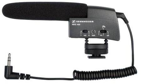 Sennheiser MKE 400 Camera Hot Shoe Mount Shotgun Condenser Microphone