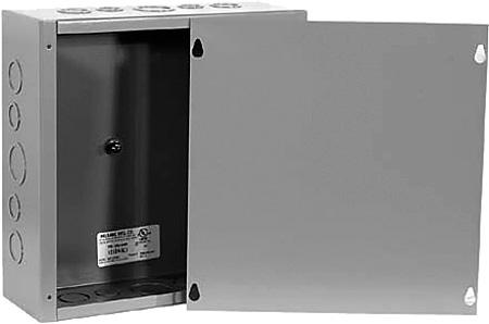 Milbank 10106-SC1 Surface Mount Indoor Type 1 Screw Cover Junction Box 10x10x6