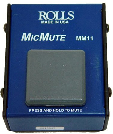 Rolls MM11 Mic Mute Professional Microphone Muting Switch