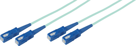 2-Meter 50/125 Fiber Optic Patch Cable Multimode Duplex SC to SC - 10-Gig Aqua