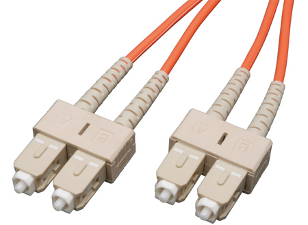 3-Meter 62/125 Fiber Optic Patch Cable Multimode Duplex SC to SC - Orange