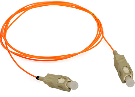 3-Meter 62/125 Fiber Optic Patch Cable Multimode Simplex SC to SC - Orange