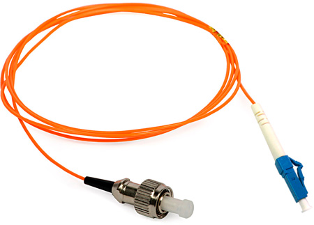 5-Meter 62/125 Fiber Optic Patch Cable Multimode Simplex ST to LC - Orange
