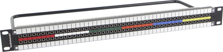 Switchcraft MMVP DIN 1.0/2.3 Patchbay 2x48 Normalled & Terminated - 1.5RU