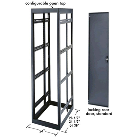 MRK-2431 24 Space Rack Enclosure 29 In. Deep with Rear Door