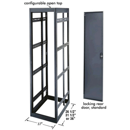 MRK-3726 37 Space Rack Enclosure 24 In. Deep with Rear Door