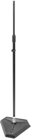 OnStage MS7625B Hex Base Quarter-Turn Threadless Mic Stand- Black