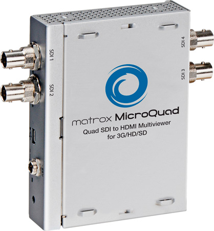 Matrox MicroQuad Quad SDI to HDMI Multiviewer for 3G/HD/SD