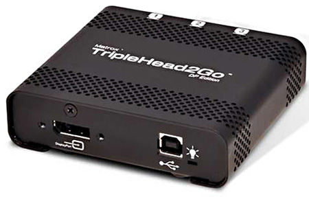 Matrox T2G-DP-IF TripleHead2Go Thunderbolt/DisplayPort Multi-Display-PC and Mac