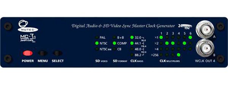 Mutec MC-31 SD Video & Digital Audio Sync Master Clock Generator