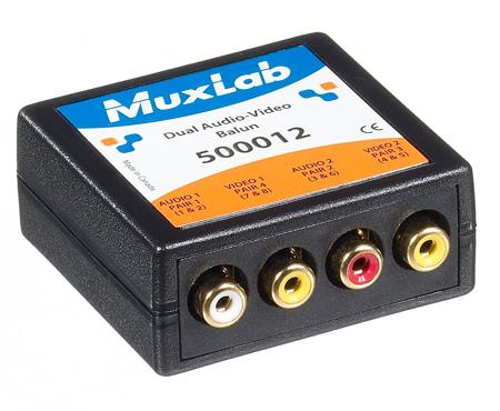 MuxLab 500012 VideoEase Dual RCA Video & RCA Unbalanaced Audio Over CAT5 Balun