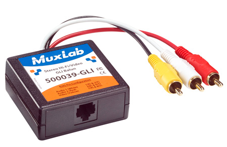 MuxLab 500039 Stereo Hi-Fi Video Balun w/ Ground Loop Isolation