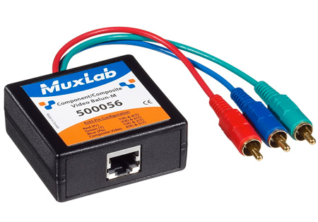 MuxLab 500056 VideoEase Component-Composite Video Balun - Male