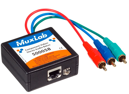 MuxLab 500058 VideoEase Component Video/Stereo Audio Balun