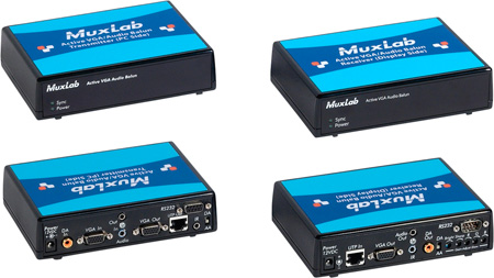 MuxLab 500145 Active VGA Audio Balun Kit
