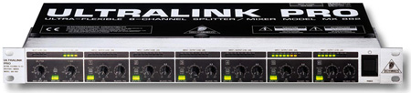 Behringer ULTRALINK PRO MX882 8-Channel Splitter/Mixer - Level Cond./Converter