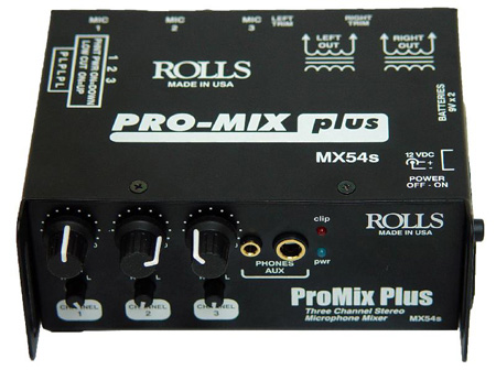 Rolls ProMix Plus 3-Channel Mic Mixer