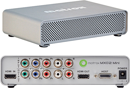 Matrox MXO2 Mini High Definition HDMI and Analog I/O for Mac and PC Desktops