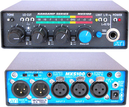 Stereo Audio Mixer with Peak Limiter