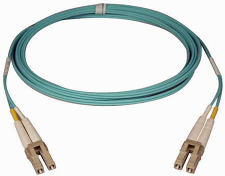 Tripp Lite N820-50M 50M (164-ft.) 10Gb Duplex MMF 50/125 LSZH Patch Cable (LC/LC) - Aqua