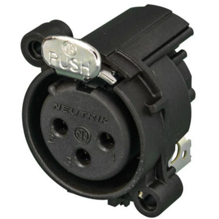 Neutrik NC3MAY Male XLR Receptacle Plastic Housing IDC-Termination AWG 24 & 26