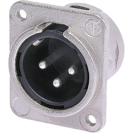 Neutrik NC3MDM3-L-1 DL Series XLR Chassis Connector - 3 pole male