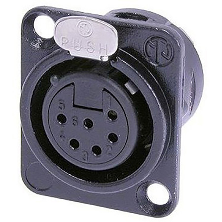 Neutrik NC6FD-L-B-1 Female Panel Mount Connector
