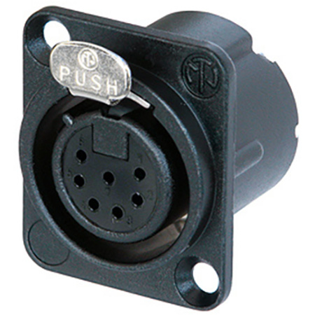 Neutrik NC7MD-LX-B Male Chassis Mount Connector