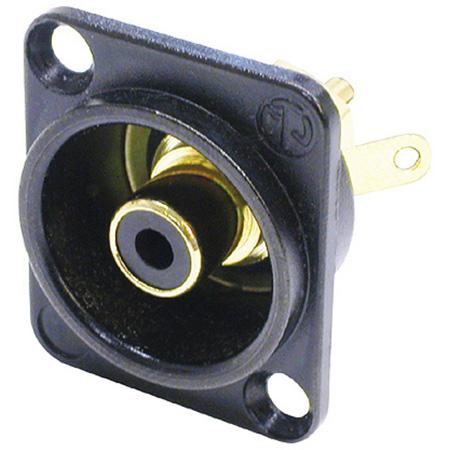 Neutrik NF2D-B-0 RCA Panel Mount Jack w/Colored Isolation Washer Black